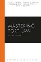 Mastering Tort Law book jacket