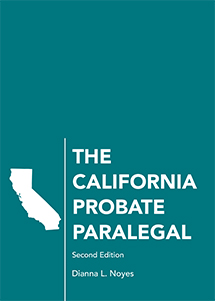 The California Probate Paralegal book jacket