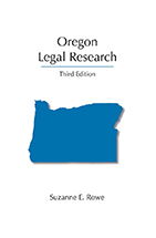 Oregon Legal Research book jacket