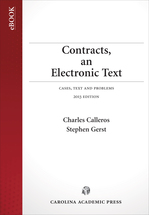 Contracts, an Electronic Text book jacket