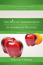 The Bias of Temperament in American Politics book jacket