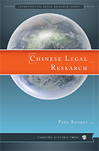 Chinese Legal Research book jacket