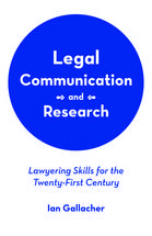 Legal Communication and Research book jacket