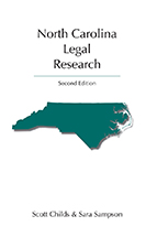 North Carolina Legal Research book jacket