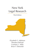 New York Legal Research book jacket