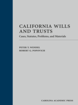 California Wills and Trusts book jacket