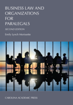 Business Law and Organizations for Paralegals book jacket