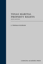 Texas Marital Property Rights book jacket