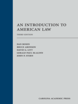 An Introduction to American Law book jacket