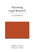 Wyoming Legal Research book jacket