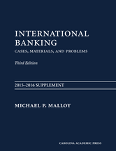International Banking, 2015-2016 SUPPLEMENT book jacket