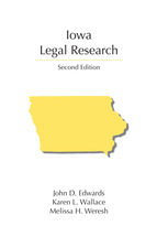 Iowa Legal Research book jacket