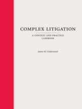 Complex Litigation book jacket