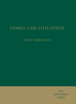 Family Law Litigation book jacket