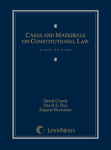 Cases and Materials on Constitutional Law book jacket