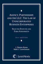 Agency, Partnership and the LLC: The Law of Unincorporated Business Enterprises Document Supplement book jacket