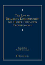 The Law of Disability Discrimination for Higher Education Professionals book jacket