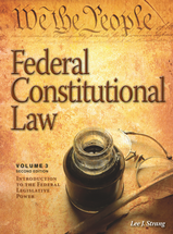 Federal Constitutional Law (Volume 3) book jacket