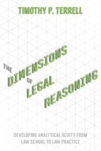 The Dimensions of Legal Reasoning book jacket