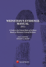 Weinstein's Evidence Manual, Student Edition book jacket