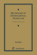 Dictionary of International Trade Law book jacket