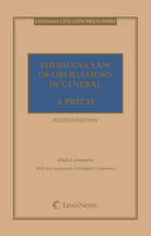 Louisiana Law of Obligations in General, A Précis book jacket