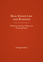 Real Estate Law and Business book jacket