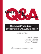 Questions & Answers: Criminal Procedure — Prosecution and Adjudication book jacket