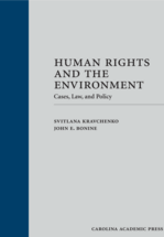 Human Rights and the Environment book jacket