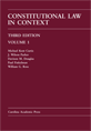 Constitutional Law in Context, Volume 1 jacket