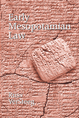 Early Mesopotamian Law jacket