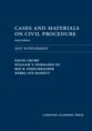 Cases and Materials on Civil Procedure: 2017 Document Supplement jacket