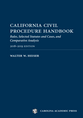 California Civil Procedure Handbook 2018-2019 jacket