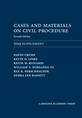 Cases and Materials on Civil Procedure: 2019 Document Supplement jacket