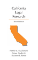 California Legal Research jacket