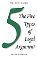 The Five Types of Legal Argument jacket