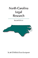 North Carolina Legal Research jacket