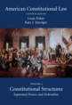 American Constitutional Law, Volume One jacket