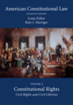American Constitutional Law, Volume Two jacket
